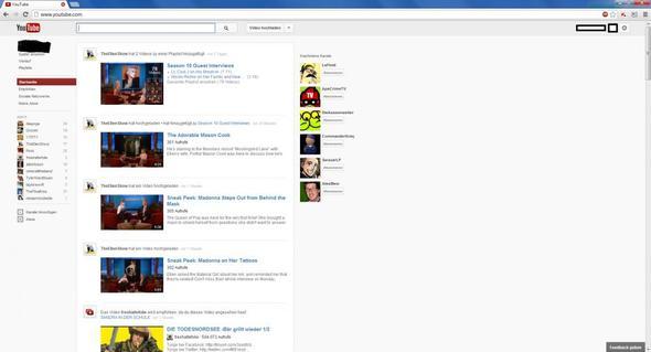 Meine jetzige YoutubeStartseite - (Youtube, Startseite)