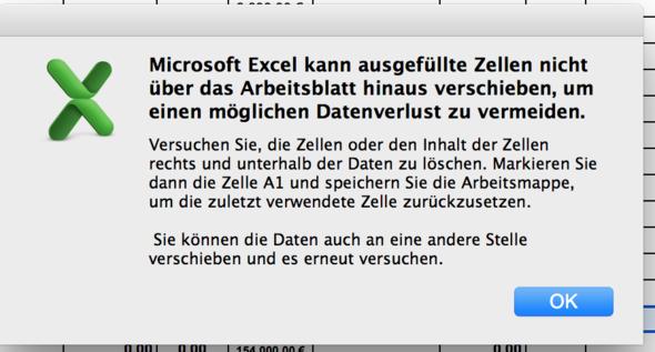 Neue Zeile einfügen in Exceltabelle funktioniert nicht mehr ...