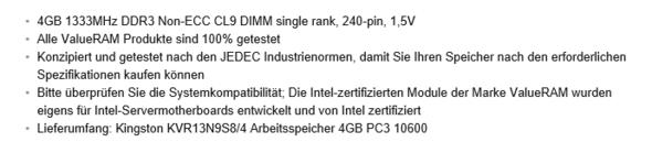 Details neuer RAM Stick - (Computer, RAM)