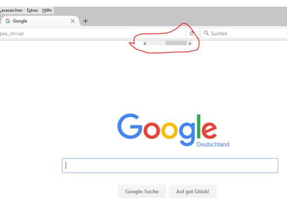 Rot makiert - (Internet, Firefox, balken)