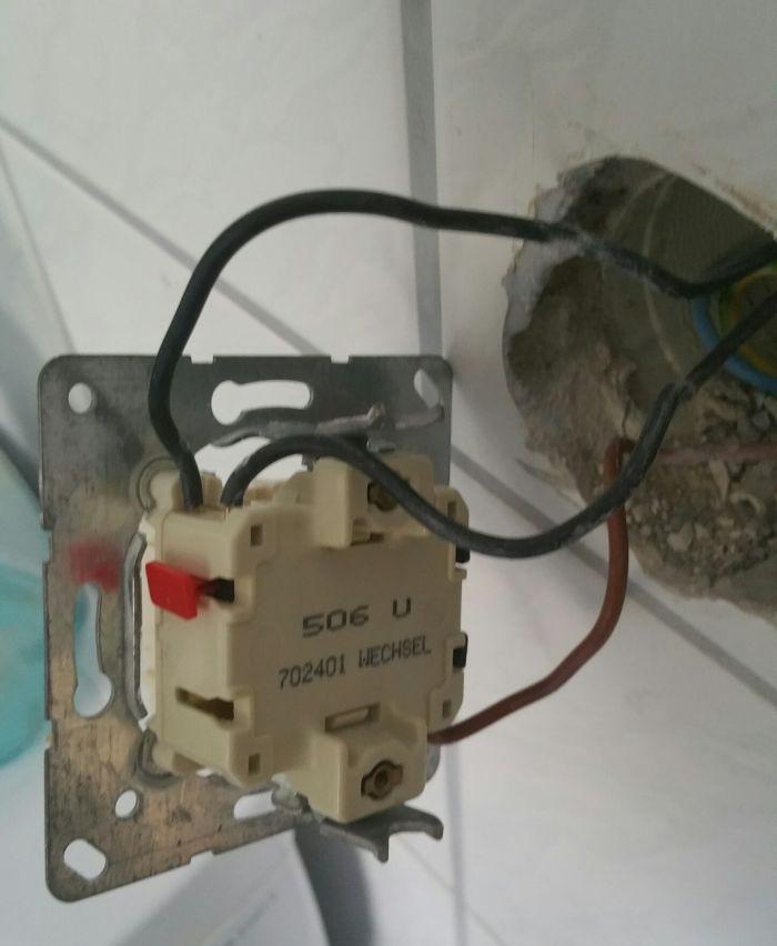Neuer Lichtschalter Wie Anschlie En Verkabeln Kabel