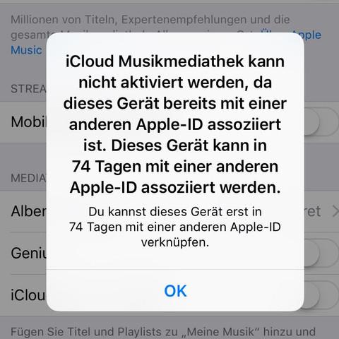 Screenshot von der Meldung - (Apple, icloud)