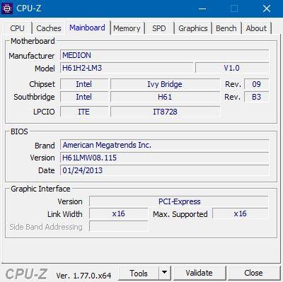 Mainboard-Daten - (Computer, PC, Hardware)