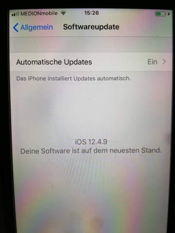 Neuestes iOS 12.4.9?