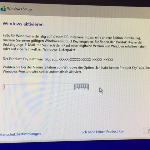 Fenster im Bootmenü - (Windows, Schlüssel, Key)