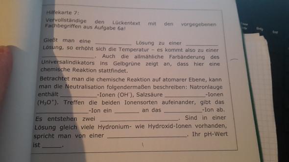 Der Text ! - (Chemie, Ionen, alkalisch)