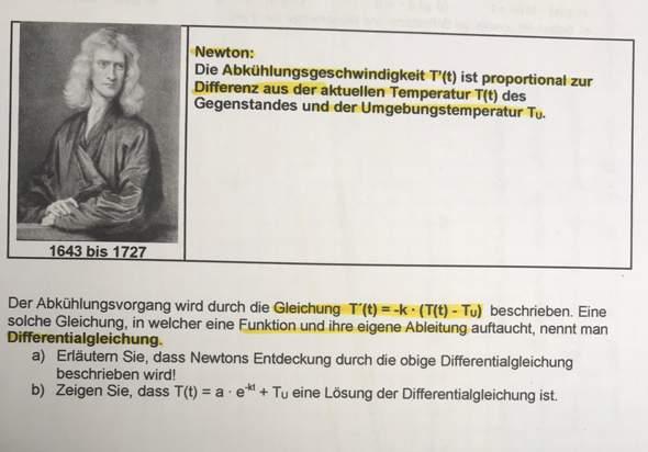 Newton Abkühlungsvorgang?