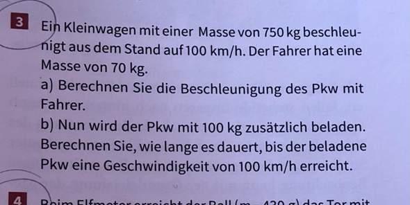 newtonsche Gesetze/ Physik Aufgabe/ falsch formuliert?