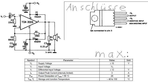 TDA2006-Schaltung - (Technik, Elektronik, Elektrik)