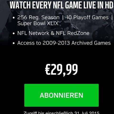 NFL Game Pass - (Sport, Fernsehen, NFL)