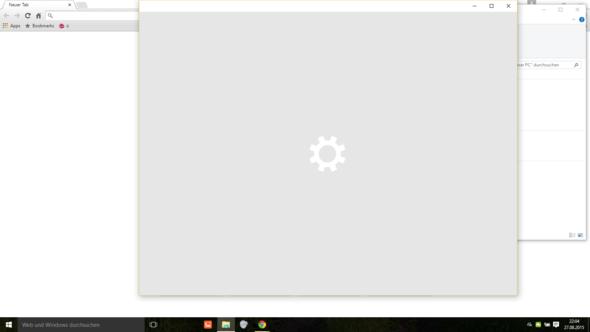 Nichts lädt und später schließt sich die Einstellung - (Computer, Windows 10)