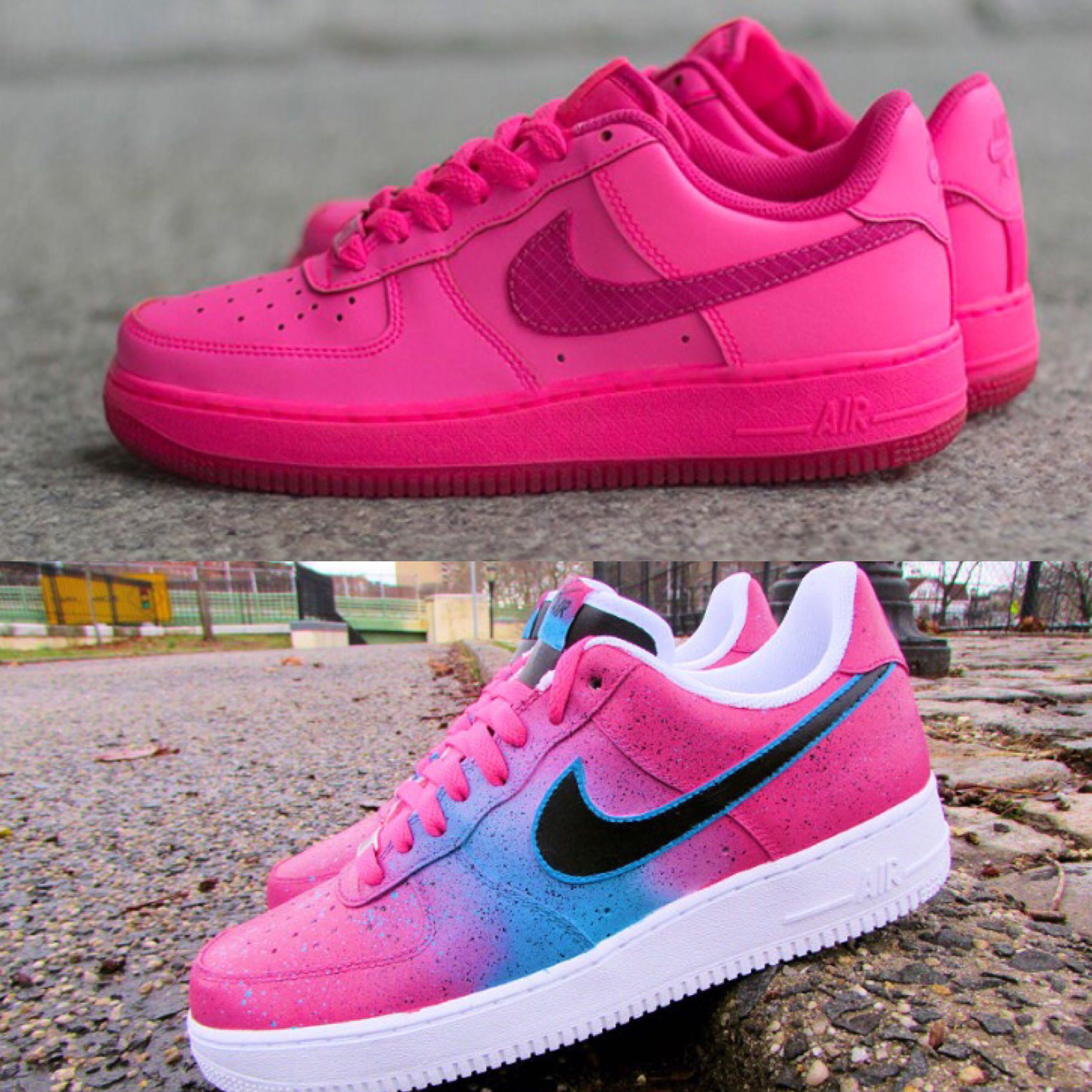 Nike Air Force Pink Weiß