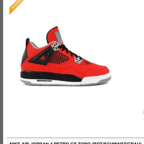 Nike air jordan 4 retro rot  - (Nike, Vertrauen, rot)