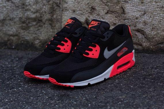 Nike Air Max 90 Essential Schwarz Rot