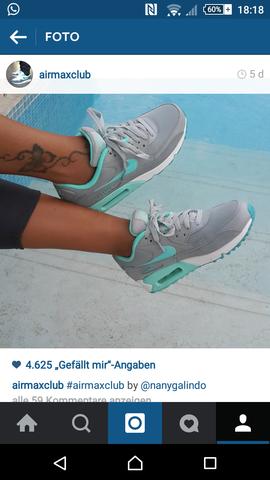 Nike Air Max grau türkis damen (Schuhe, airmax)