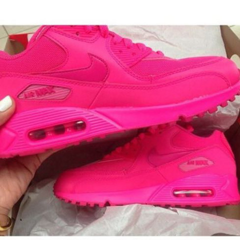 shoes, nicekicks, nike air max 90 hyperfuse, neon pink air