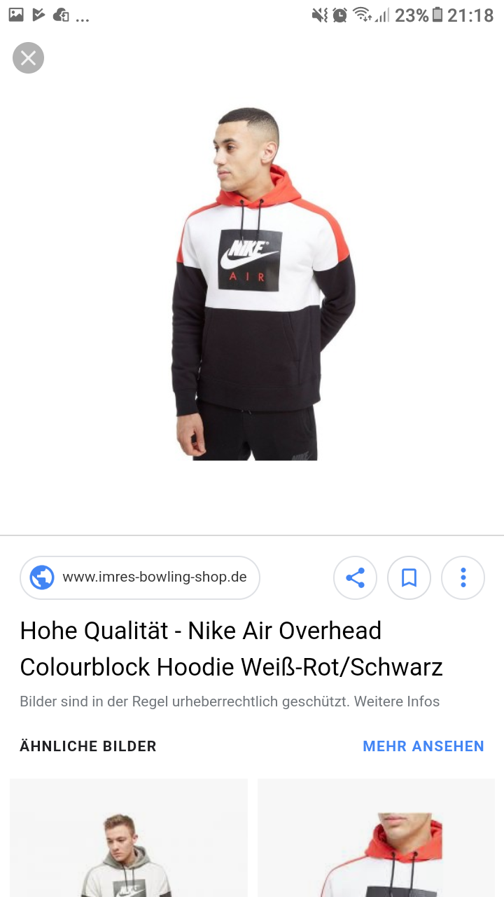 nike air overhead colourblock hoodie weiß rotschwarz