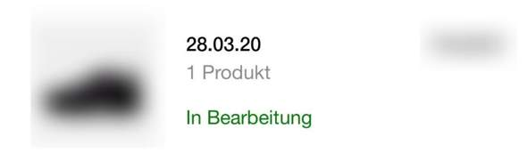 Nike Bestellung in Bearbeitung?