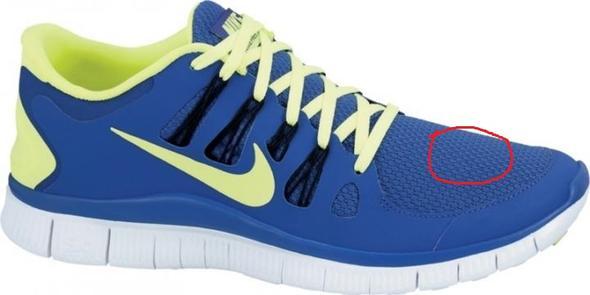 Wie entferne ich bei Nike Free die Fettflecken? (Schuhe