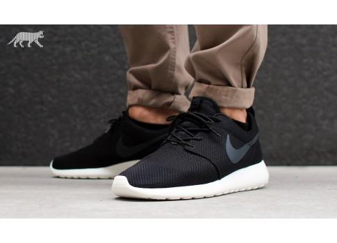 Nike Roshe Run Herren Schwarz Grau