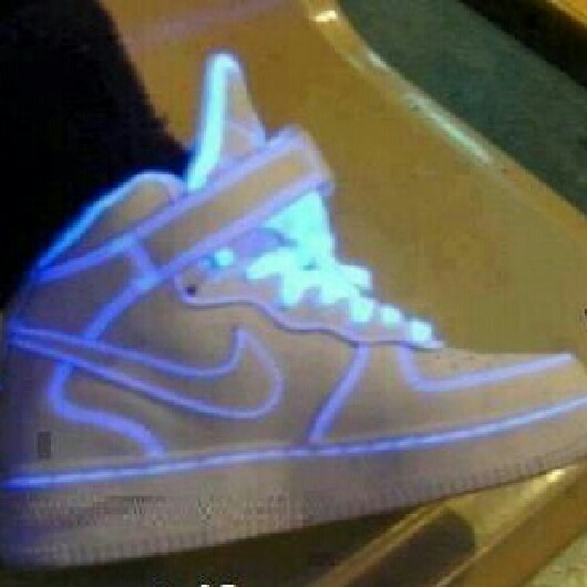 White And Blue Light Up Shoes