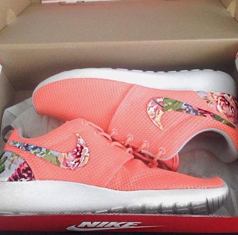 Nike Free Schwarz Blumen
