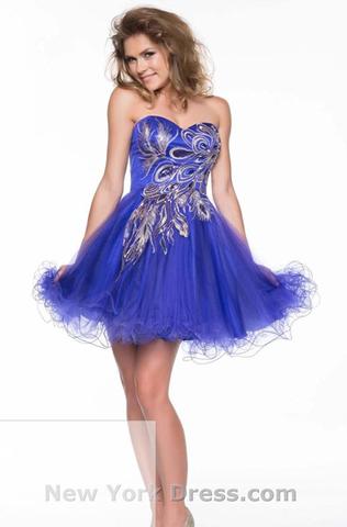 Das gesuchte Kleid (Nina Canacci 21515 Royal) - (USA, Versand, Zoll)