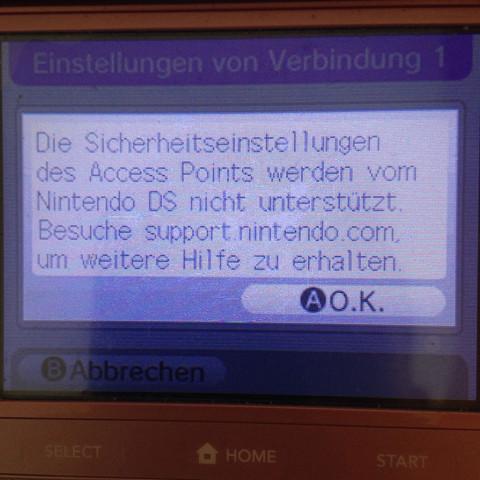 Diese meldung kommt immer - (Internet, WLAN, Nintendo)