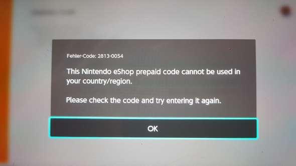 Nintendo Eshop Karte Code.Nintendo Switch Karte Finktioniert Nicht Technik Gaming
