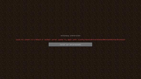 Nitrado Minecraft Server Fehler?