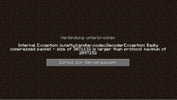 Nitrado Server Ionettyhandlercodecdecoderexception Badly - Minecraft nitrado server neue welt erstellen