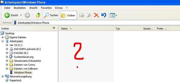 Nokia Lumia Ordner wird im Windows XP Explorer leer angezeigt! Warum?