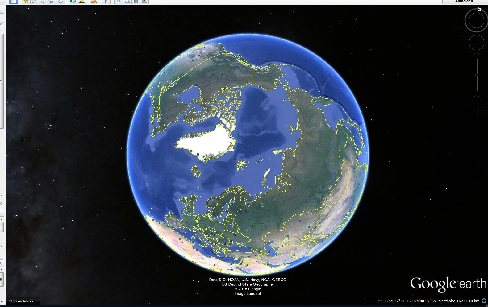 nordpol google earth nicht sichtbar. Black Bedroom Furniture Sets. Home Design Ideas