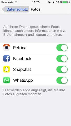Screenshot mit den Datenschutz Einstellungen🙂 - (iPhone, instagram)