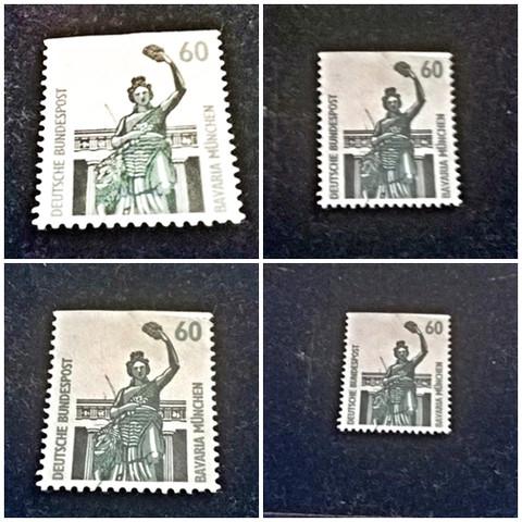Normale Briefmarken Oder Plattenfehlergeringer Wert Oder Wertvoll