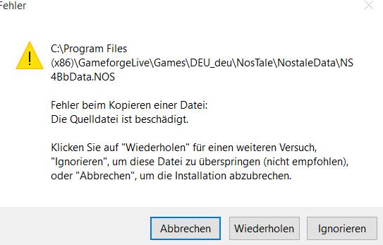 Die Meldung - (Spiele, Download, Installation)