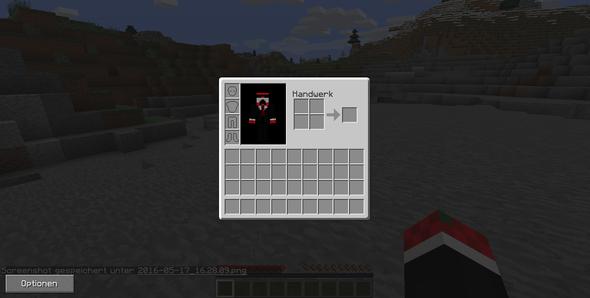 rechts sollte doch die übersicht sein oder? - (Minecraft, not enough items)