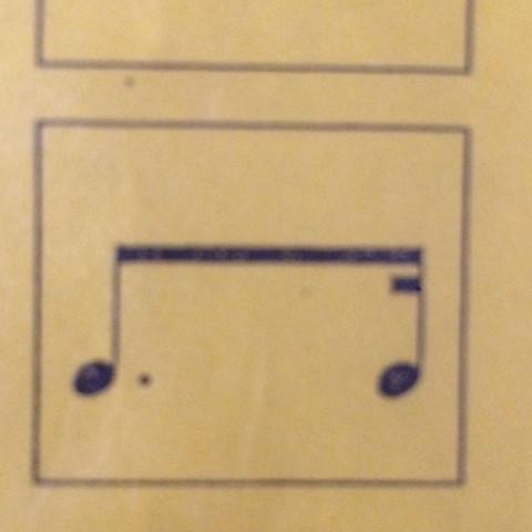 Das ist die note - (Schule, Musik, Noten)
