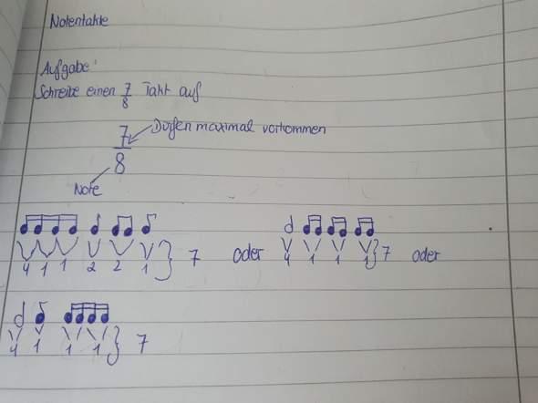 Notentakte mit verschiedenen Noten schreiben?