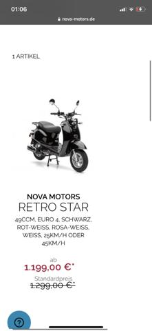 Nova Motors retro Star Roller drossel?