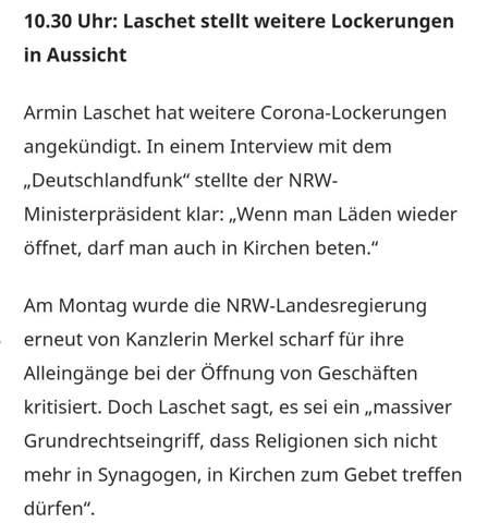 NRW lockert weiter die Massnahmen, was haltet ihr davon?