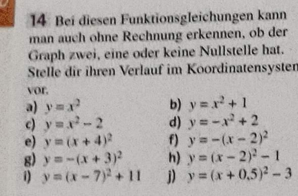 - (Mathematik, Quadratische Gleichungen Funktionen )