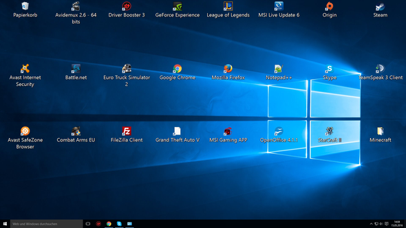 Screenshot des Desktops - (PC, Desktop, Schrift)