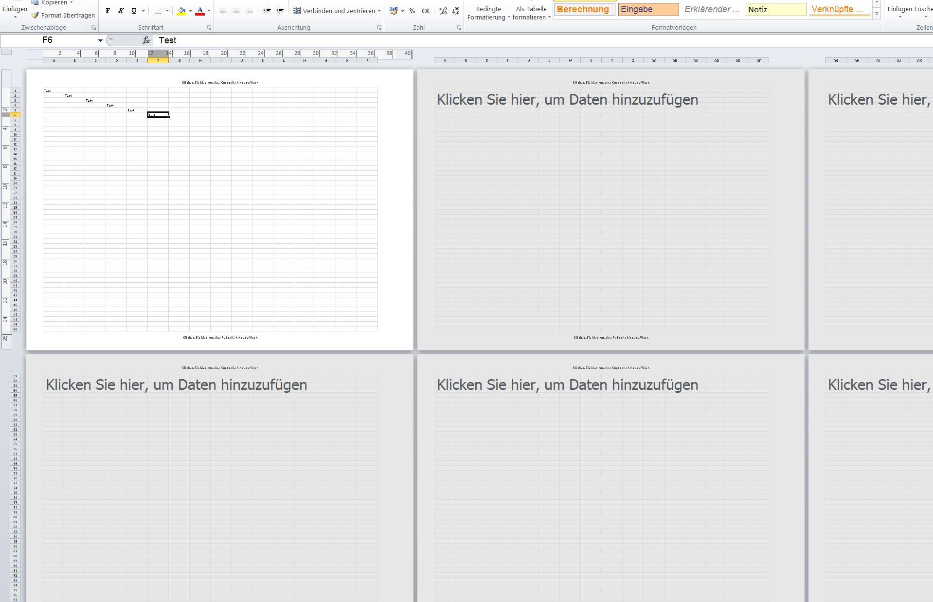 Arbeitsblatt Excel Anzeigen : Nur erste seite in excel tabelle anzeigen