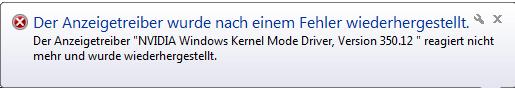 Fehlermeldung - (Fehlermeldung, Nvidia, Absturz)