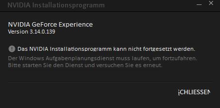 Geforce Experience Startet Nicht