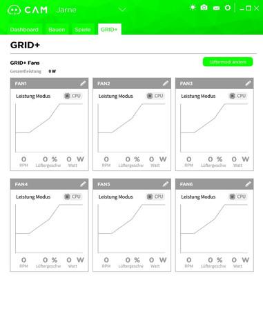 Screenshot von der Software - (Computer, Lüftersteuerung, NZXT Grid V2)