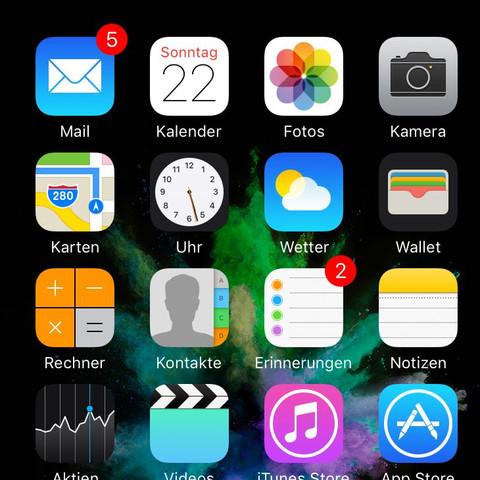 Homescreen, Leiste oben verschwunden - (Technik, Apple, Smartphone)