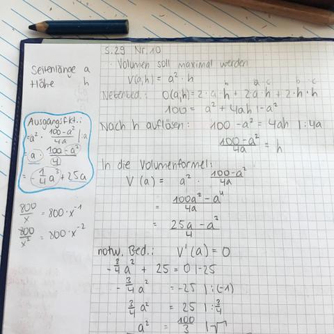 Mein Heft - (Mathe, Mathematik, Volumen)