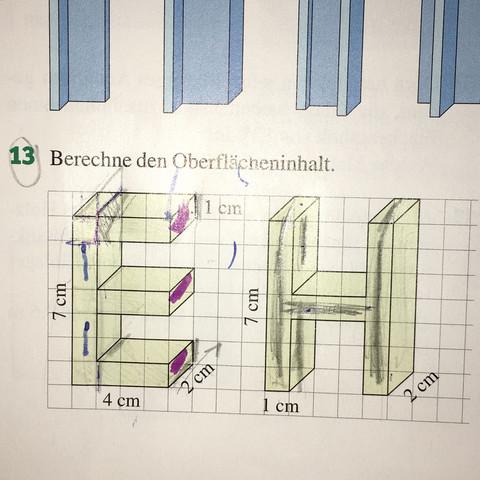 Buchstabe E - (Mathe, Oberflächeninhalt)